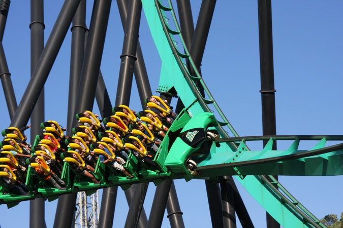 Green Lantern Standup Roller Coaster Six Flags Great Adventure New Jersey